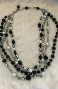 Premier Designs Four Strand Beaded Necklace
